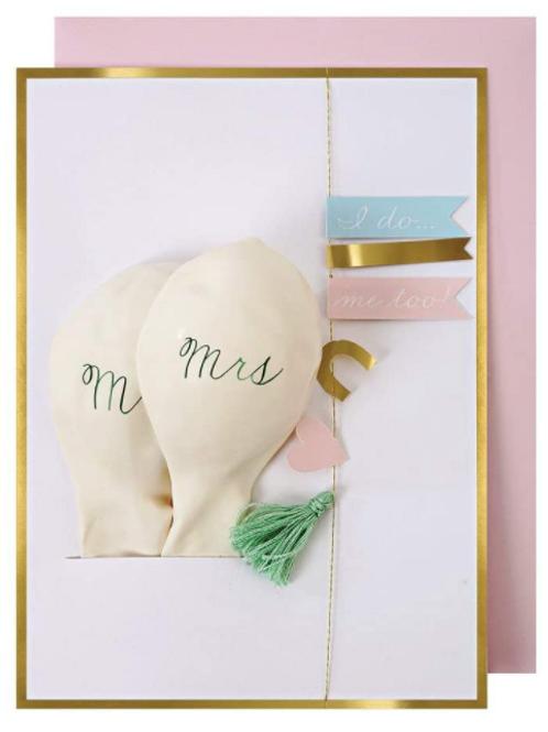 Svatební přání s balónky
