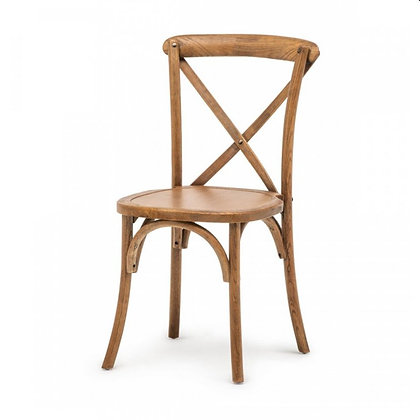 Židle cross - hnědá