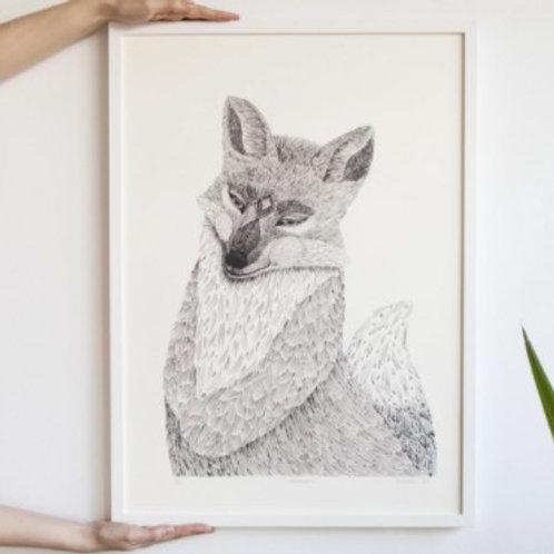 Plakát liška HUHU