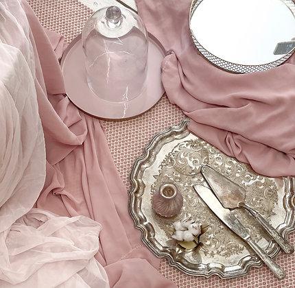 Pudrový ubrus/běhoun na stůl - set 12 ks