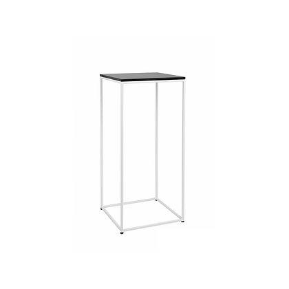 Bistro stolek bílá / černá