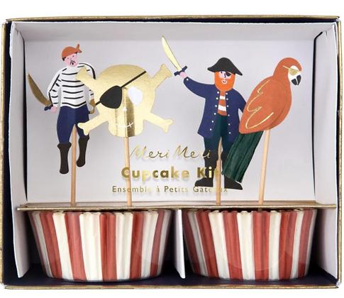 Ozdoba na cupcake - piráti