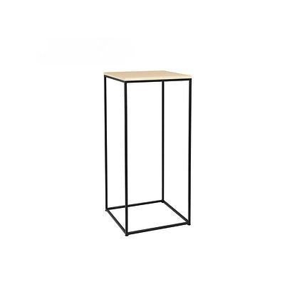 Bistro stolek 80 x 40 cm - černá / dřevo