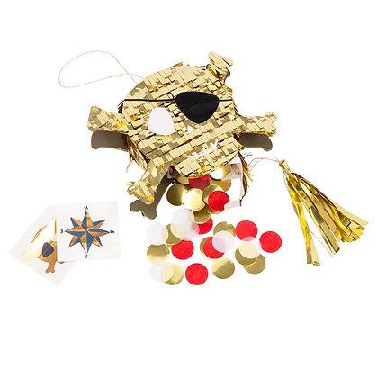 Piñata zlatá lebka