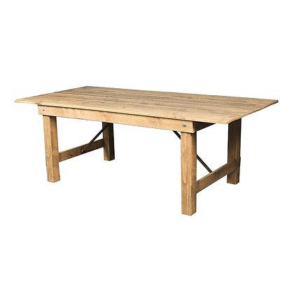 Velký dřevěný stůl - světlý