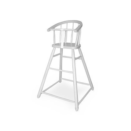 Dětská jídelní židlička - bílá
