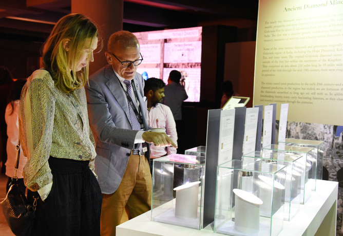 GIA's display of the replicas of important diamonds from the Golconda region.
