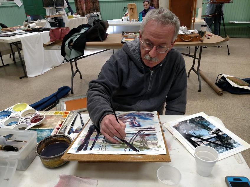 Jeffery Mathison FPA doing watercolor