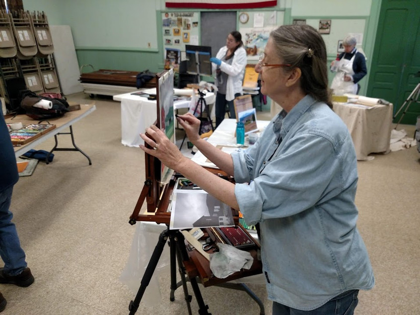 Martha Taylor, FPA member trying pastels