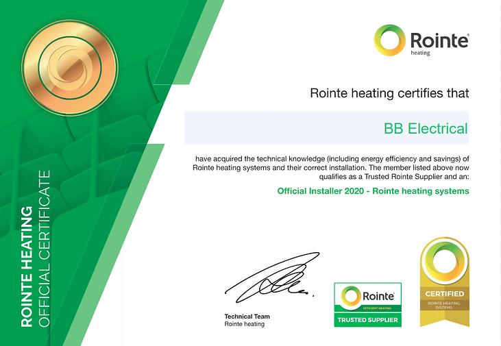 rointe heating certificate.png