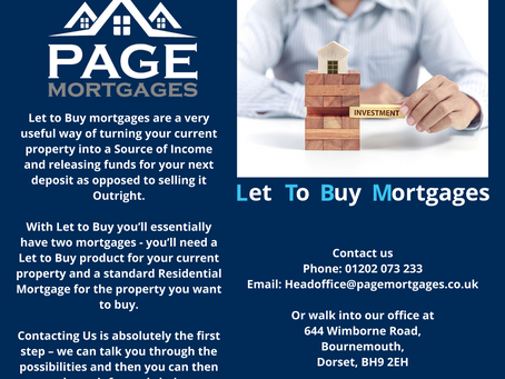 Let To Buy Mortgages