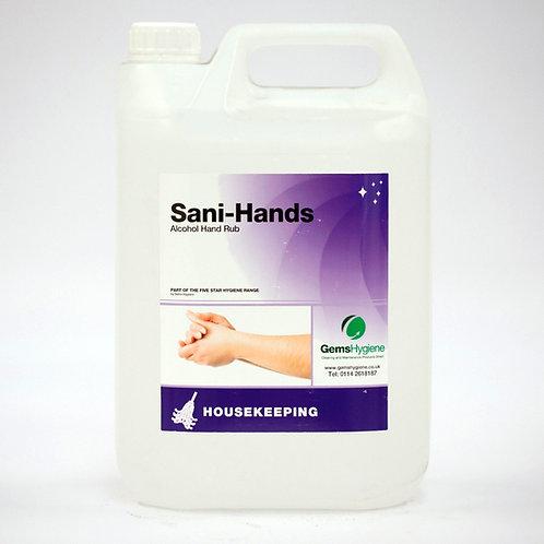 Sani-Hands - 70% Alcohol Hand Sanitiser (5L)