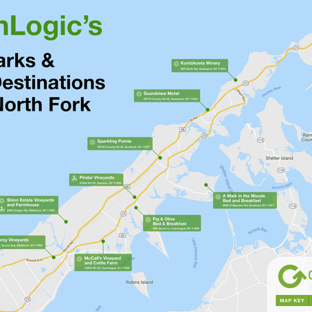 GreenLogic's Landmarks & Great Destinations of the North Fork