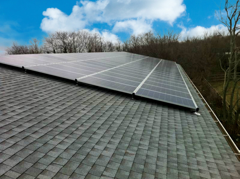 Solar panel system by GreenLogic at Sparkling Pointe on Long Island