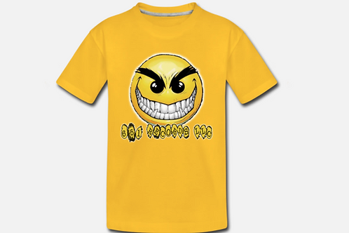 Crazy Smile Emoji v1, Kids T Shirt