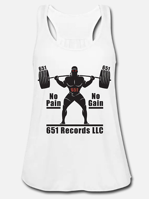 No Pain, No Gain v1, Tank Top, Women's, White