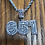 Thumbnail: 651 Iced Out, Pendant & Rope Chain, White Gold (CZ), v1