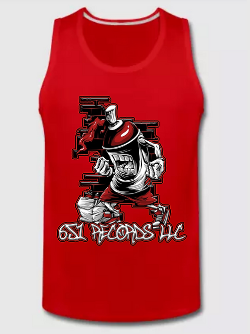 Spray Can Man v1, Tank Top, Men's, Red