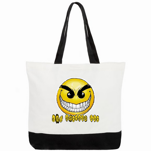 Crazy Smile Emoji v1, Tote Bag