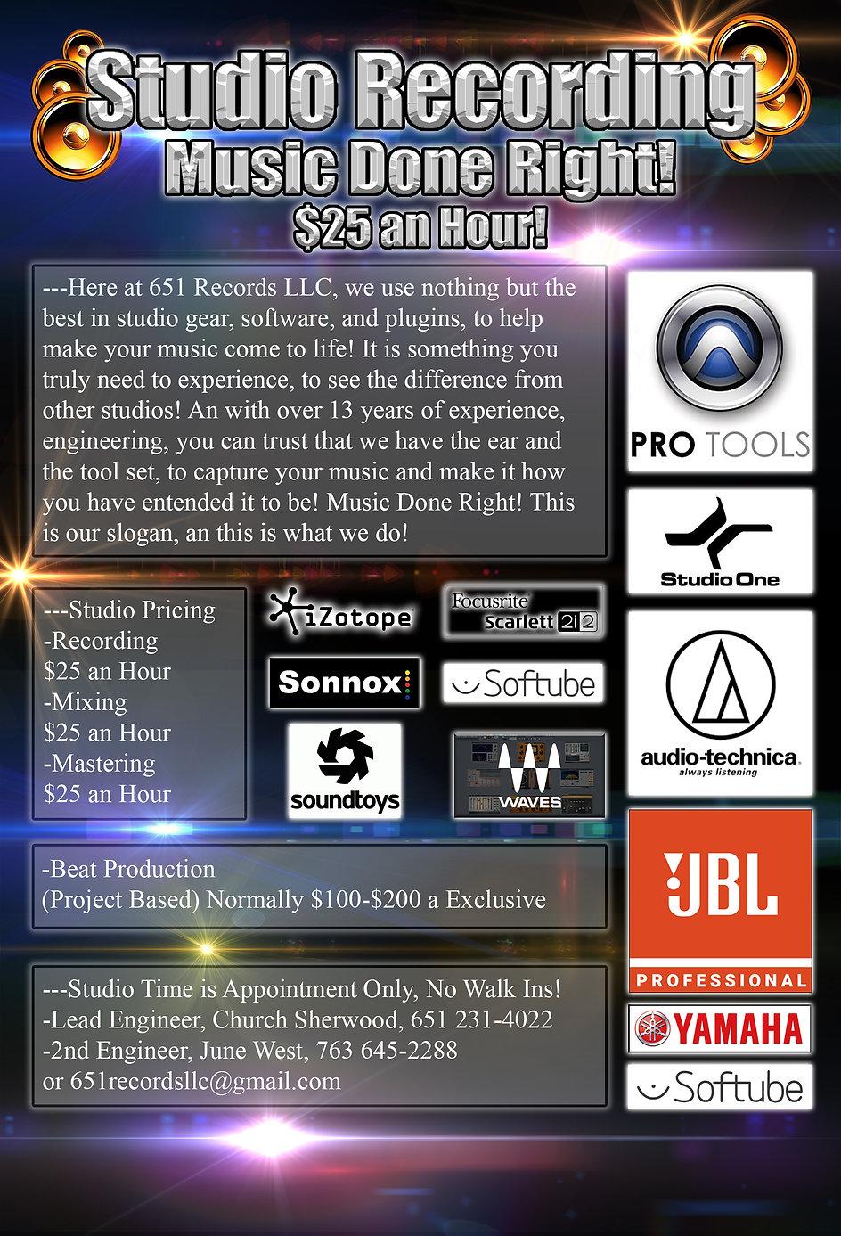 7-11-2020 Studio Recording Page, Music D
