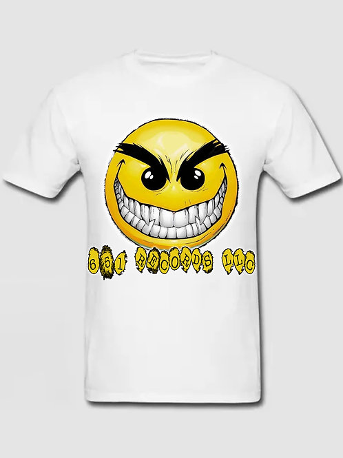 Crazy Smile Emoji v1, White