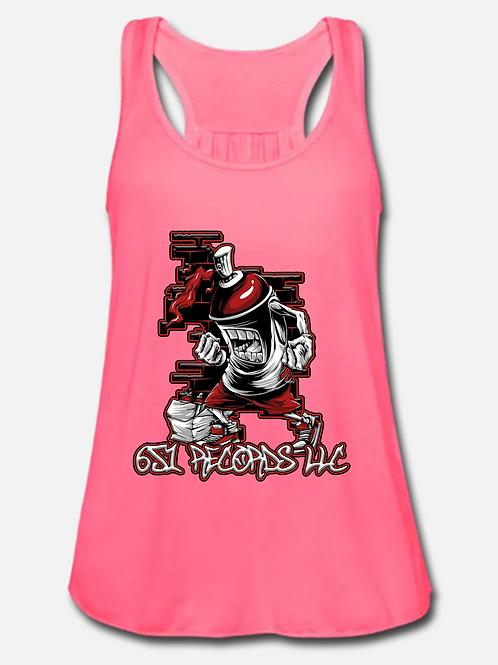 Spray Can Man v1, Tank Top, Women's, Neon Pink