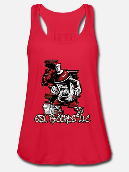 Spray Can Man v1, Tank Top, Women's, Red