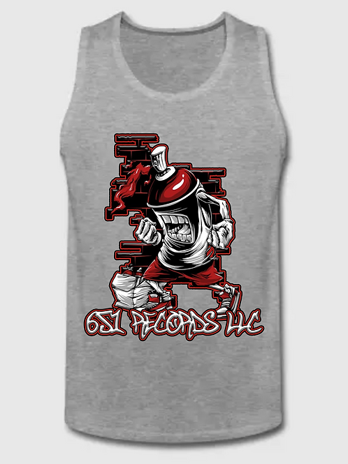 Spray Can Man v1, Tank Top, Men's, Heather Gray