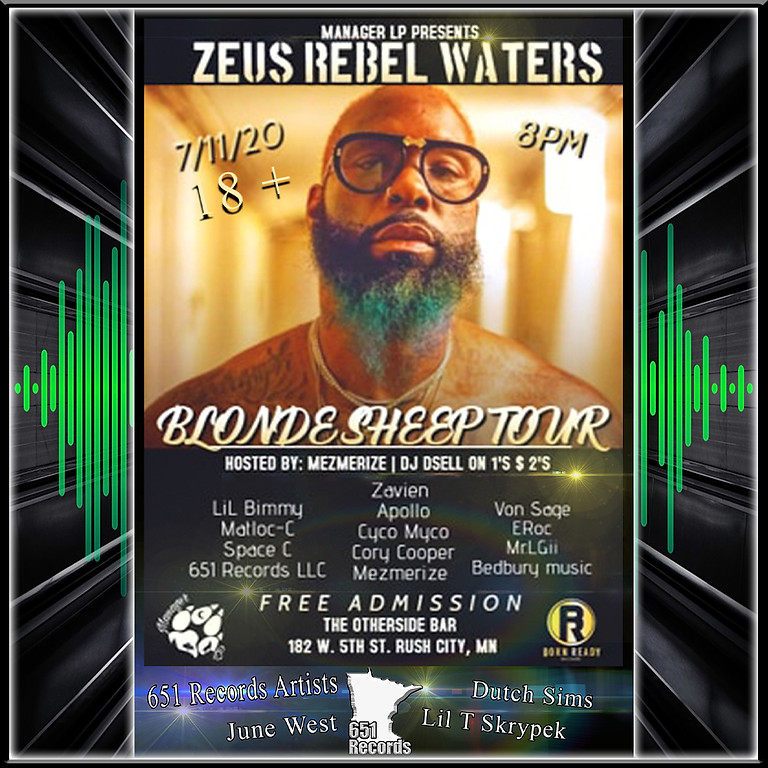 Zeus Rebel Waters, feat 651 Records LLC, and More.