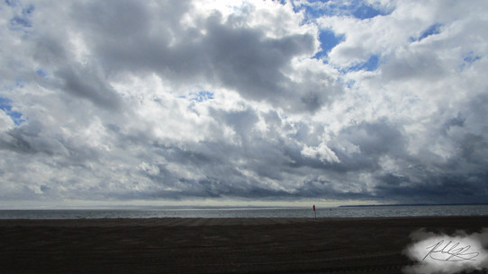 Cloudy day on the beach