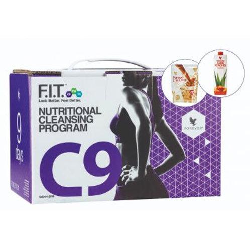 Clean 9  Pachet slabire si detoxifiere in 9 zile Ciocolata+Aloe Vera Piersica