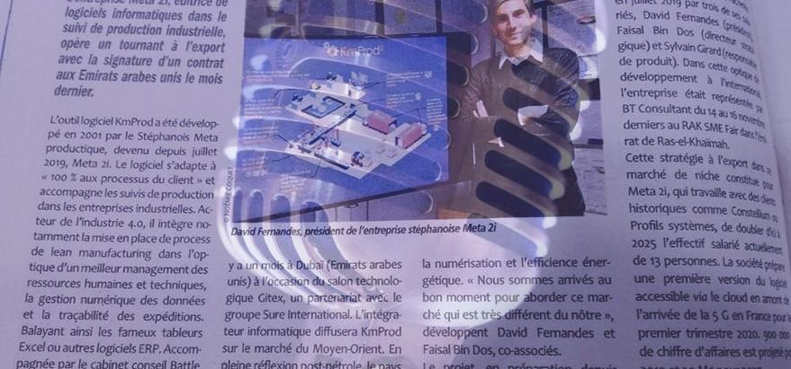 Interview de notre partenaire META 2i  dans le journal l'Essor sur les pays du Golfe