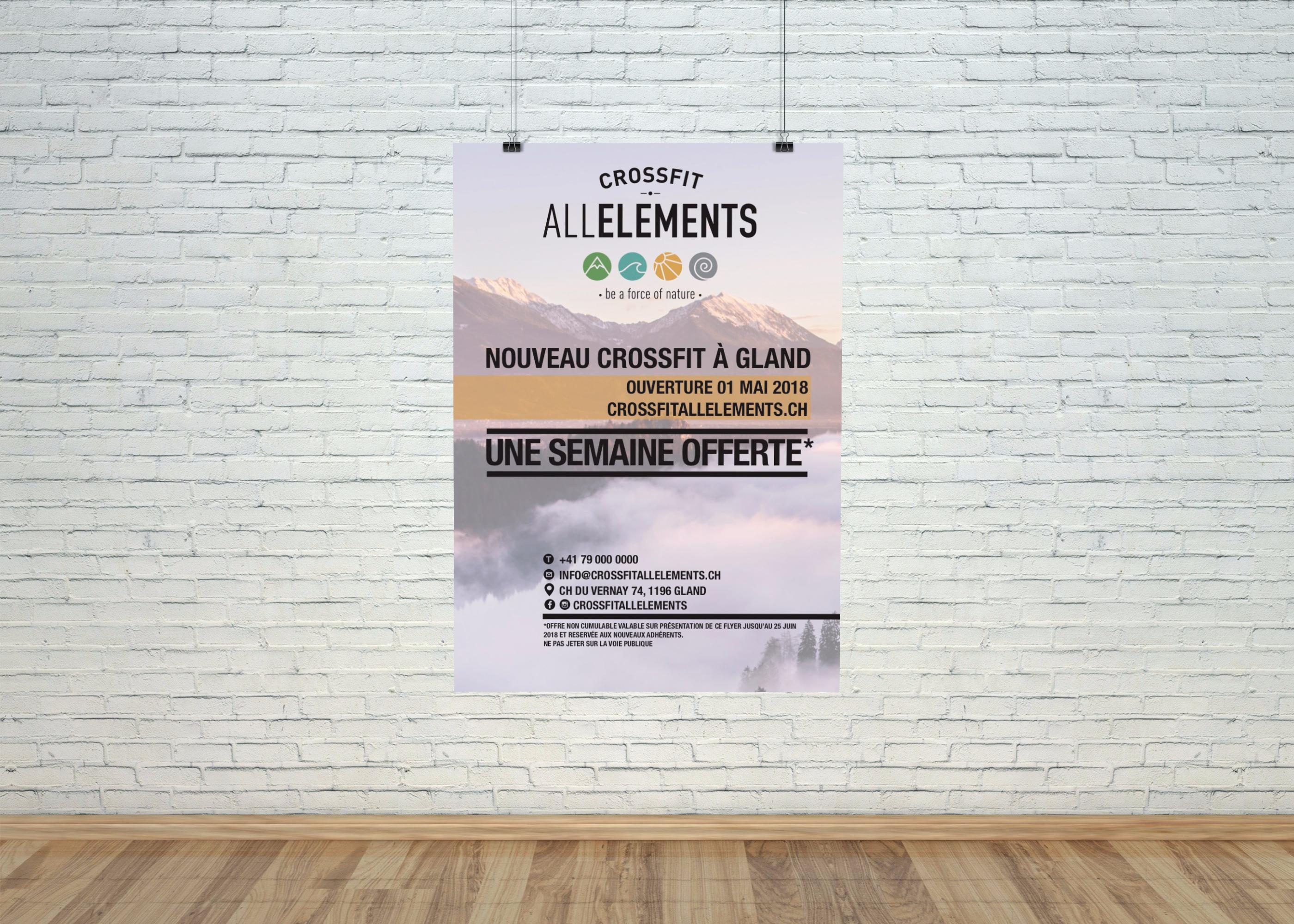 Création de Flyer - CrossFit All Elements
