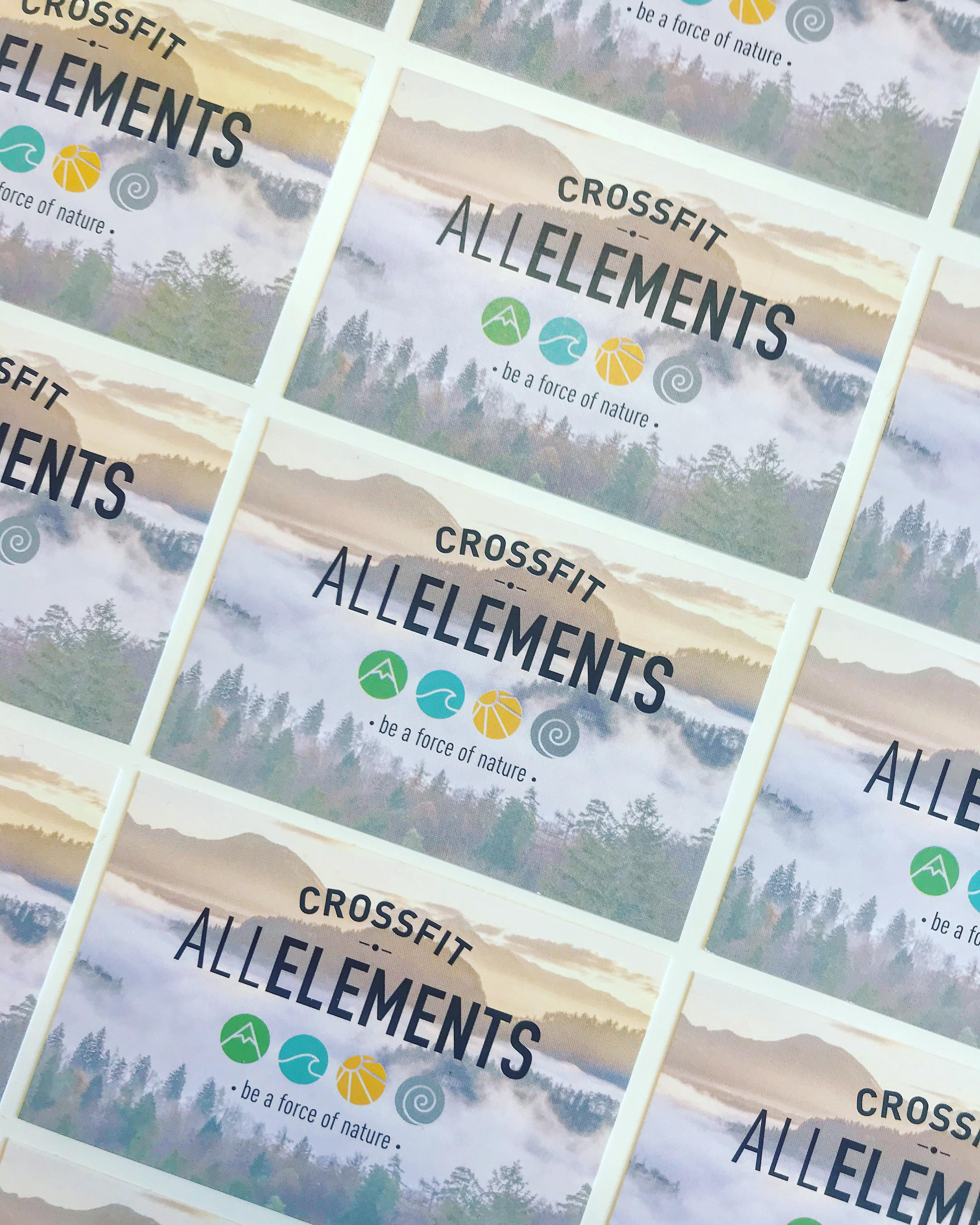 Création de carte de visite - CrossFit All Elements