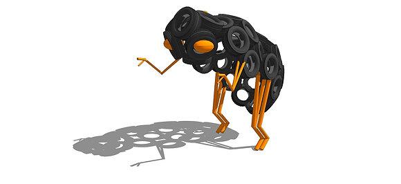 Muñequito Cascarudo Articulado