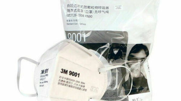 3M 9001 - KN90 - STANDARD SIZE / EARLOOP-STYLE PARTICULATE RESPIRATOR