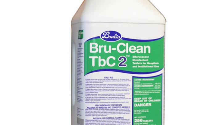 Bru-Clean TbC 2 Effervescent Disinfectant Tablet