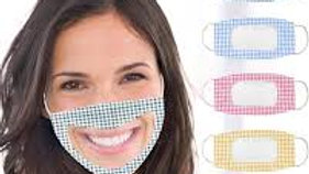 Breathable Face Mask With Clear Window Visible Expression For The Deaf And Hard