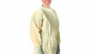 Gown McKesson Adult One Size Fits Most Yellow NonSterile