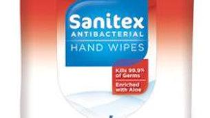 SANITEX ANTIBACTERIAL HAND WIPES PACK WITH 20 WIPES