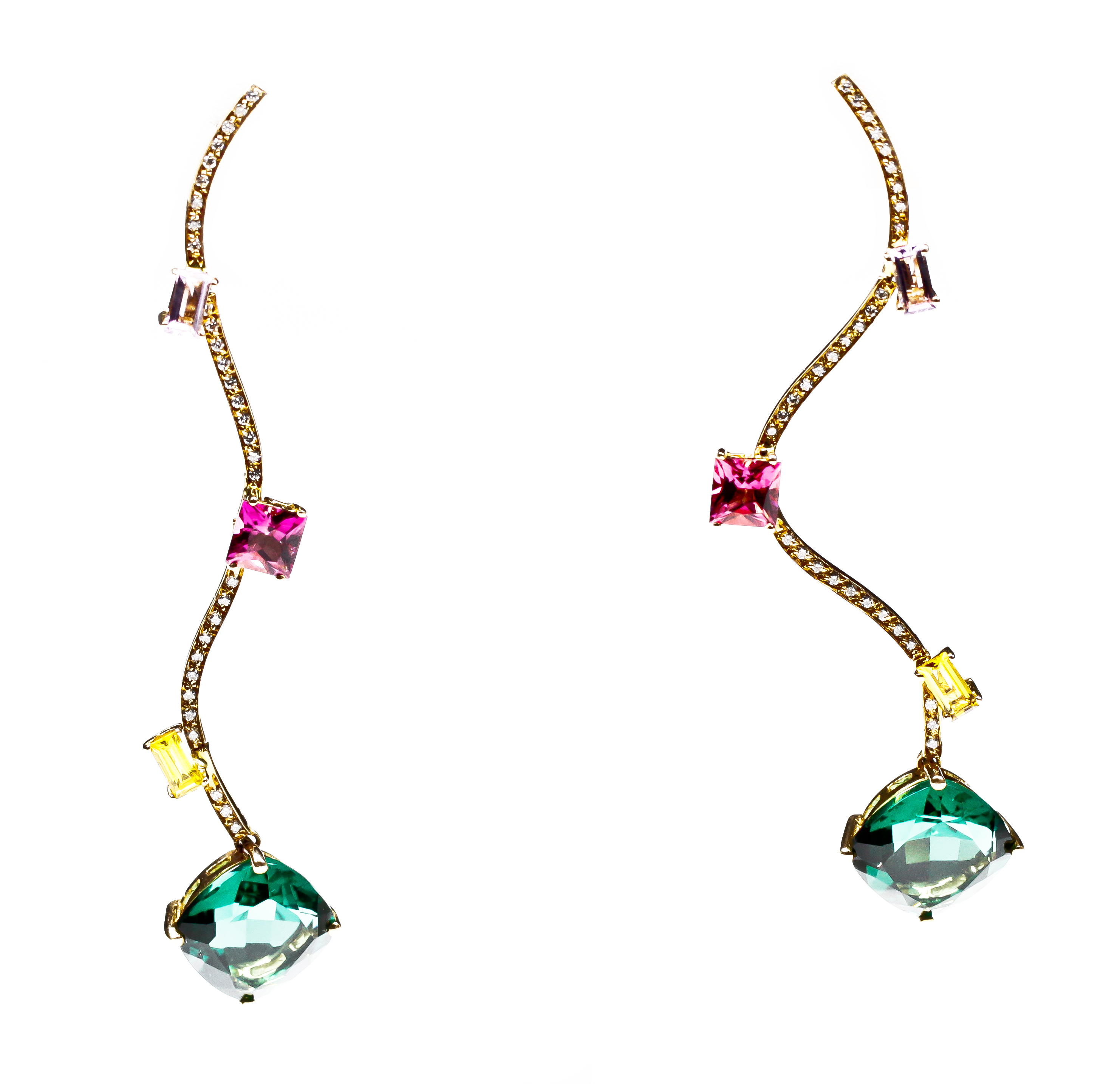 The Amazonian drop Earrings