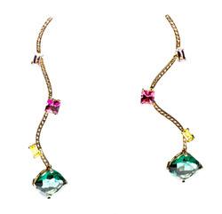The Amazonian drop Earrings