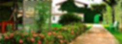 Jardim e caminhada