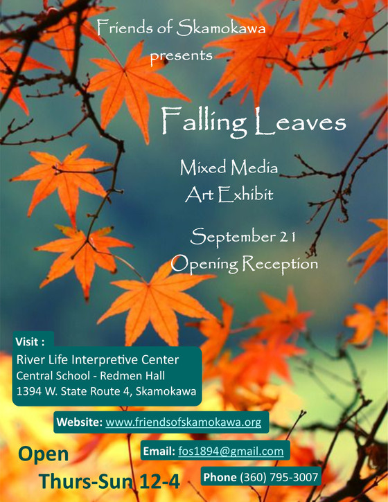 """Falling Leaves"" Art Exhibit Opening Reception September 21st"