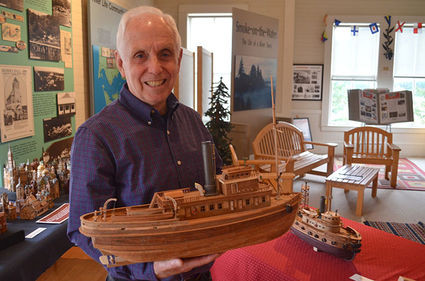 """On the cover of this week's Wahkiakum County Eagle """"Local Crafters Show Woodworking Skills&"""