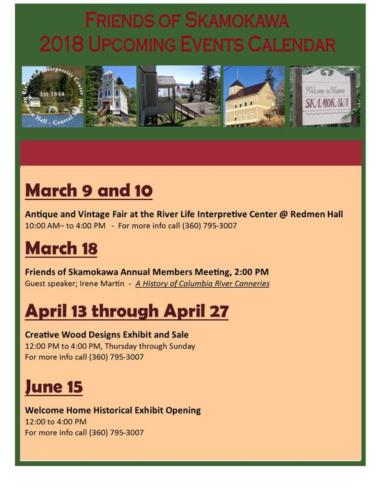 Upcoming Events Calendar