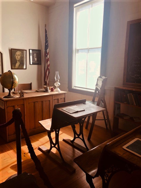 A replica school room