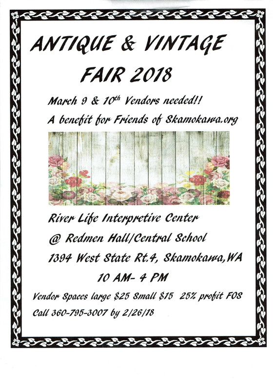 Antique and Vintage Fair March 9 and 10, 10:00 AM-4:00 PM