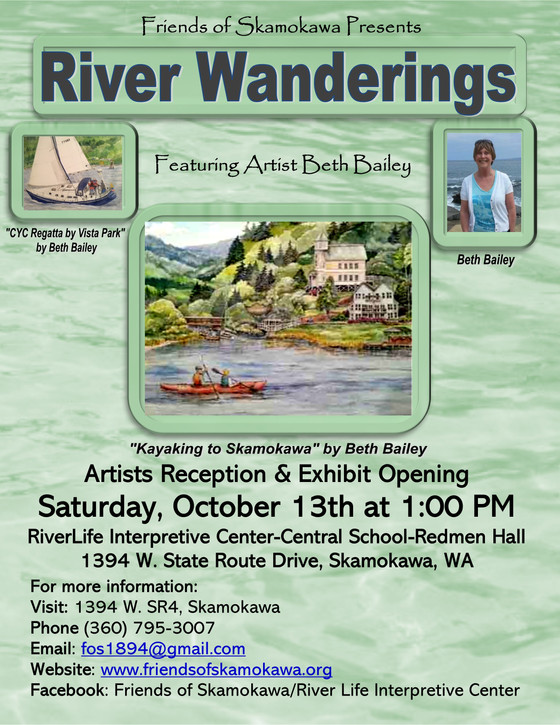 """River Wanderings"" featuring artist Beth Bailey - Artist Reception & Exhibit Opening,"