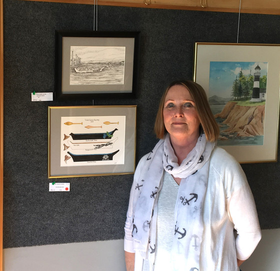 """Upcoming Events Calendar and photos from our current art exhibit """"River Wanderings"""" by Bet"""